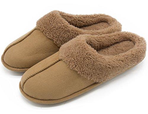 hometop-mens-womens-micro-suede-plush-fleece-lined-slip-on-memory-foam-indoor-clog-house-slippers-7-