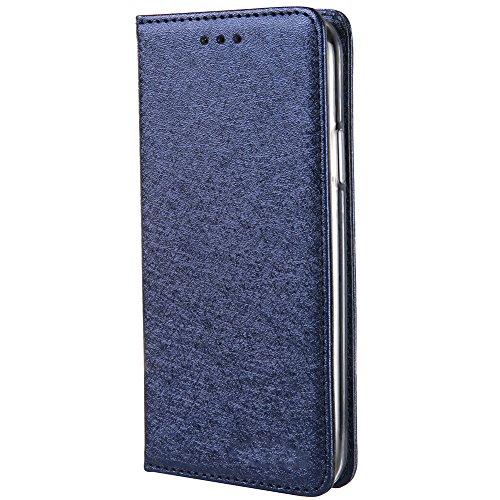 iPhone 7 Plus/8 Plus Handy Hülle Tasche Flip Case Kredit Karten Fach Geldklammer Leder Handy Schutzhülle Unsichtbar Magnet Verschluss Standfunktion,Saphir Blue