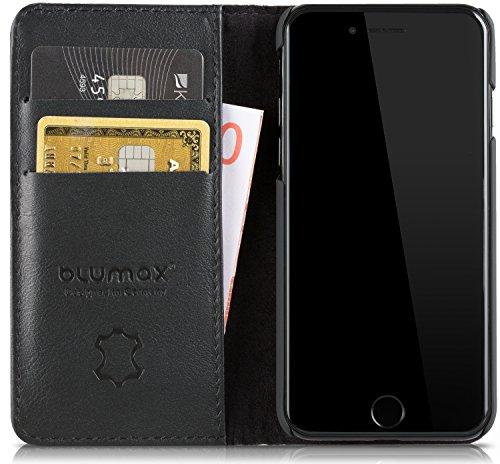 Blumax iPhone 8 iPhone 7 Echt Ledertasche | iPhone 8/7 Klapphülle 4,7