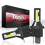 TXVSO 110W 12000LM H4/9003 Hi/Low LED Kit phare de voiture 6000K lampes blanches, adapté pour tous H4/9003 voiture, 55W / ampoule, 2 pcs/ensemble