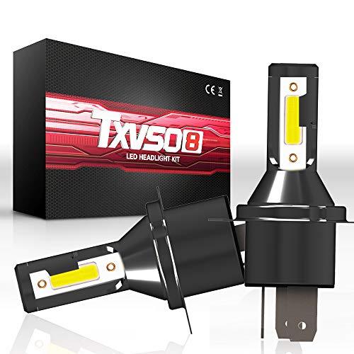 TXVSO 110W 12000LM H4/9003 Hi/Low Kit faro LED per auto 6000K bianco Lampade, adatto per tutte le auto H4/9003, 55W / Lampadina, 2 pz/set