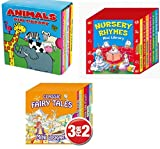 Mini Library Board Books - Special Pack for Toddlers, Children, Babies - Bedtime Time Story Board Book - Fairy Board Book - Animals Board Book Mini Library - 18 Board Books Collection Set - ANIMALS - amazon.co.uk