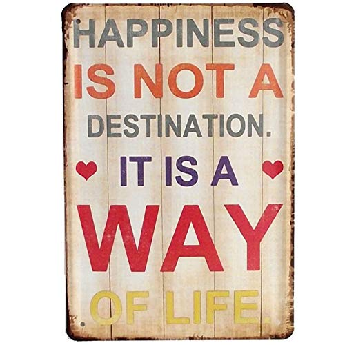 Post Hole Bar (PotteLove Happiness is Not A Destination It is A Way of Life Vintage Metal Tin Signs Plaques Wall Poster for Garage Man Cave Beer Cafe Bar Pub Club Home Decor)