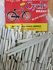 PMW Cycle Brand StationAry Slate Pencil Natural Lime Stone Chalk - Pack of 10 Boxes