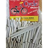 Pmw Cycle Brand Stationery Slate Pencil Natural Lime Stone Chalk (12345) - Pack of 5 Boxes