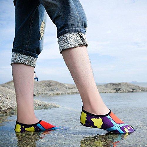 Rawdah Quick-Dry Water Swim Surf Socks Yoga Skin Sports Shoes Calzini da surf di unghie su unghie stampati a rapida asciugatura Arancione