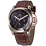 megir Men Luxury Watch Homme Chronographe Sport Watch Genuine Leather Men's Quartz Wrist Watch