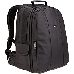 AmazonBasics Sac à dos pour appareil photo reflex numérique et ordinateur portable intérieur orange