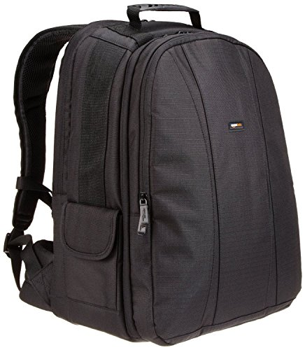 AmazonBasics DSLR and Laptop Backpack with Orange Interior