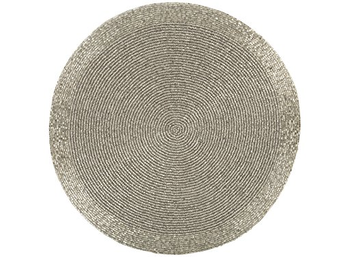 Creative Tops Weihnachten Silk-Backed Perlen Platzsets, Silber -