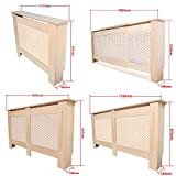 Happyjoy Traditional MDF Wood Radiator/Heater Covers Cabinet - Small/Medium 1117mm x 817mm x 190mm