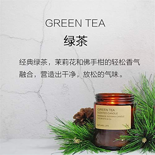 Aromatherapie Kerze Duftkerze High-End Set Geschenkbox Ätherisches Öl Soja Wachskerze Mit Glas Hochzeit Home Decor 绿茶 210g