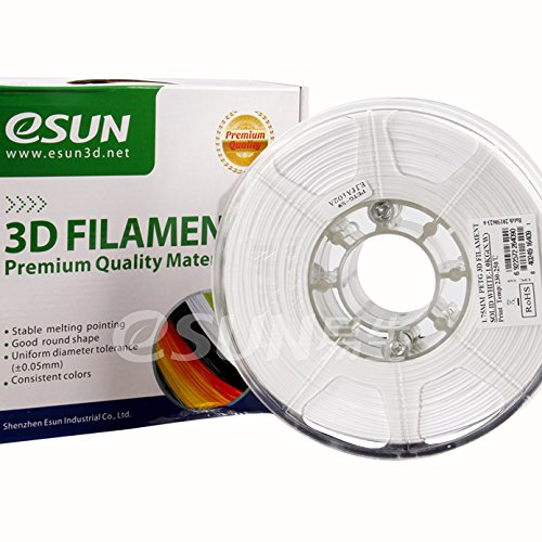 eSun 3d-Solid White, Pressure Tempe PETG Filament 3 mm 1 kg. 230 ~ 250 & # x2103; & # x2103;, E. G. for 3d Printer Ultimaker MakerBot RepRap Maker Gear Up Mendel Huxlep Thing drum-o-matic Universal