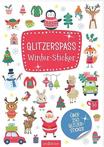 Glitzerspaß Winter-Sticker