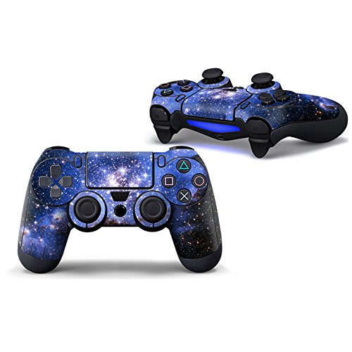 morbuy PS4 Controller Skin Designer Leder Sticker für Sony Playstation 4 PS4 Slim Pro Dualshock Wireless Controller X 1 Himmelsblau