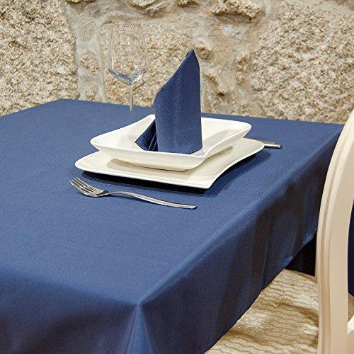 BgEurope Luxus Blau Uni Tischdecke Anti Fleck Proof–Rechteck–Große Größen, blau, (140cm x 200cm (55