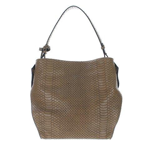 Coccinelle Sheela Lavato Schultertasche Leder 30 Cm Cachemire
