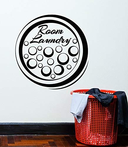 Haomo Vinyl wandtattoo wäsche reinigungsservice Schaum wandaufkleber, Badezimmer Dekoration Aufkleber wandbild 57 * 58 cm - Hohe Schaum Wäsche