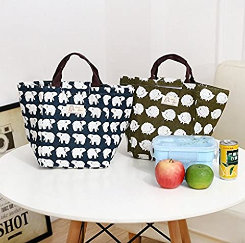 Accmart lunch bags,Picnic Cool Bag,Water Resistant Canvas Lunch Tote,Reusable Packed