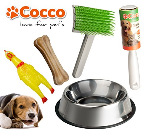 set-of-accessories-for-dogs-carder-sticky-brush-to-remove-hairs-from-sofas-and-carpets