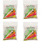 "3 1/4"" Martini Golf Tees - 4 Pack Of NEON COLORS - 20 Tees Total - Virtually Unbreakable"