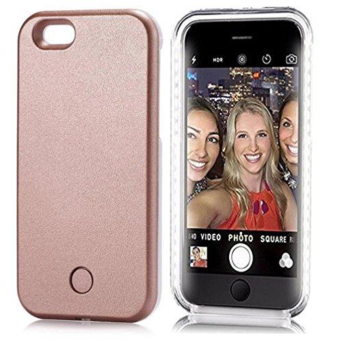 iPhone Hülle Malloom® Erstaunliche LED-Licht-späteste Selfie Telefon-Kasten-Abdeckung für Iphone 8 4.7 Zoll (Iphone 8 4.7 Zoll, rosa gold)