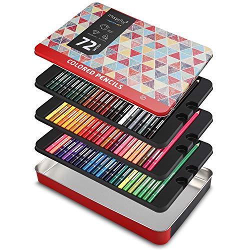Magicfly 72 Lápices de Colores Profesional, Caja de Lápices de Dibujo Colores Brillantes para Colorear Mandala Bosquejo Pintura al Pastel, Adultos Niños Dibujantes