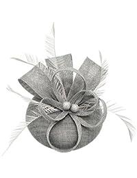 Sinamay Pluma Fascinators Pastillero Sombrero Flor Derby Sombrero Cóctel Bola Boda Iglesia Tea Party