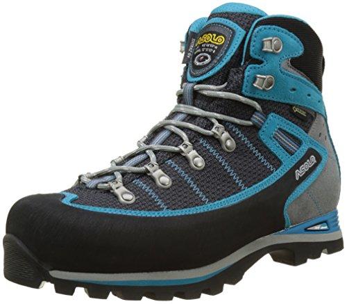 Asolo Shiraz Gv ml, Zapatos de High Rise Senderismo Mujer, Azul (Nero/Blue Pavone), 43 1/3 EU