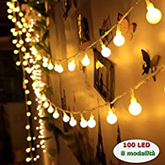 Idea Regalo - Innoo Tech Catena Luminosa con Spine Femmine e Maschi 12M 100 Led Luci Stringa Led Luci Decorative Bianco Caldo Luci Natalizie Per Natale, Anno Nuovo, Matrimonio, Bar, Caffè, Piscina, Casa, Esterno ed Interno Trasformatore DC 31V