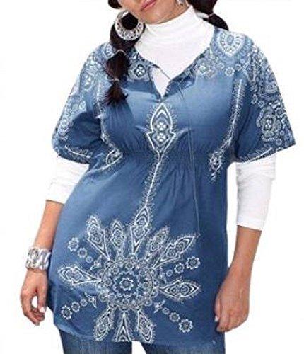 Tunique de la marque heine-couleur : bleu/blanc Bleu - Bleu/blanc