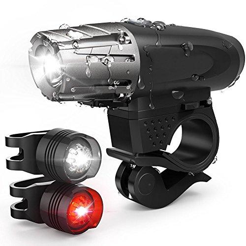 LED Fahrradbeleuchtung Set Wiederaufladbare Wasserdichte 360 Grad-Drehbare Einfache Installation 4 Modi Scheinwerfer Und Freies 2 Sicherheits-Rücklicht