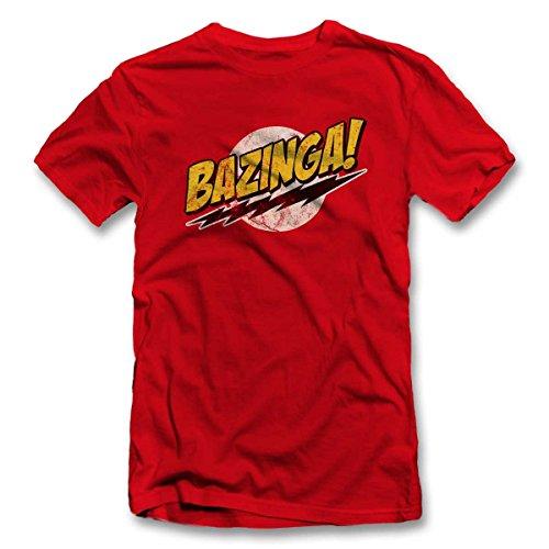 Bazinga 03 Vintage T Shirt T-Shirt S-XXL 12 Farben / Colours Rot
