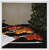 3drose Geigen und Weihnachtsbaum–Grußkarten, 6von Foto, Set 12(GC 23651_ 2)
