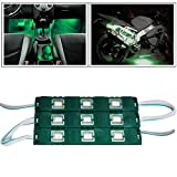 #1: TRUELINKS 9 LED Custom Cuttable Car Green Light for Interior/ Exterior For Honda City Ivtec
