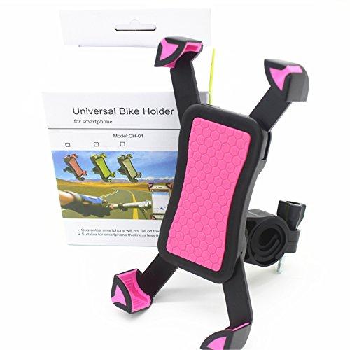 Preisvergleich Produktbild Handyhalterung Fahrrad Universal Outdoor Handyhalter für Motorrad Handy Fahrradhalterung Sicherheitschutz fahrrad verstellbar mit 360°Drehen für Iphone und andere Smartphones, Pink