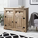 Furniture Best Deals - Corona Mexican Pine Large Sideboard | 2 Drawers & 2 Doors | Rustic Design