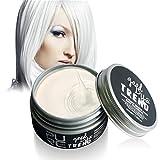 Weicici Unisex Waschbar Temporäre Haarfärbemittel Wachs Haar Modellierung Farbe Schlamm DIY Haar Creme Für Party 100 ML (# Weiß)