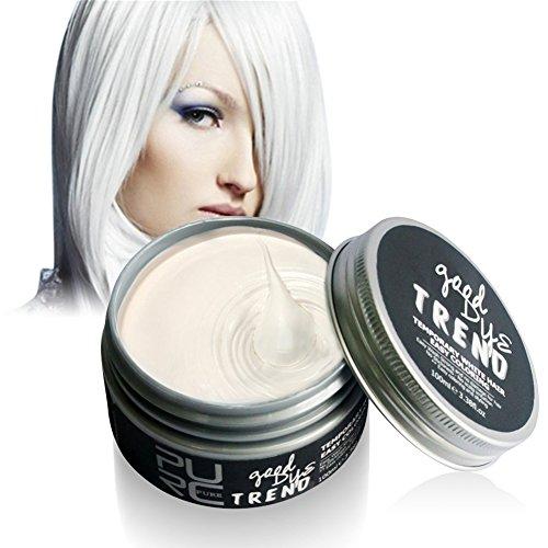 bar Temporäre Haarfärbemittel Wachs Haar Modellierung Farbe Schlamm DIY Haar Creme Für Party 100 ML (# Weiß) (Temporäre Weiße Haar Color Spray)