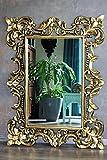 Edler massiv Holz Wandspiegel Barockspiegel gold antik 120cm x 90cm