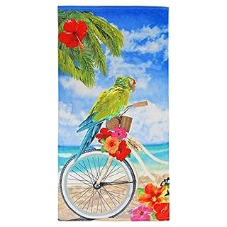Ashley Mills 100% Reine Baumwolle Parrot Sommer Strand Handtuch–Modernes Design, 75x 150cm