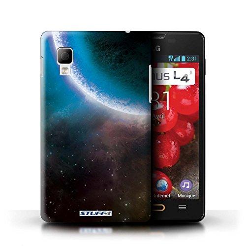 Kobalt® Imprimé Etui / Coque pour LG Optimus L4 II/E440 / Planète Verte conception / Série Cosmos Éclipse Bleu