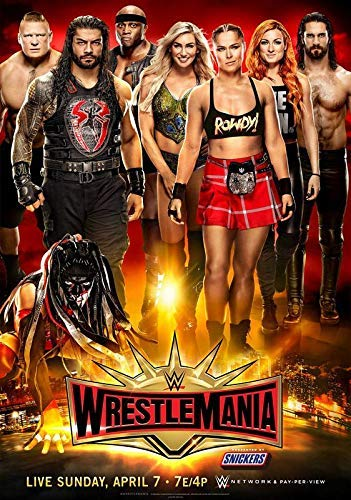 Wwe Wrestlemania 35 April 2019 Poster Ronda Rowsey 101 A4 (Poster Wwe)