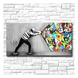 XIAOXINYUAN Graffiti Art Picture Wall Dietro La Tenda Home Decor Su Tela Modern Wall Art Canvas Print Poster Tela Pittura 70 × 90Cm