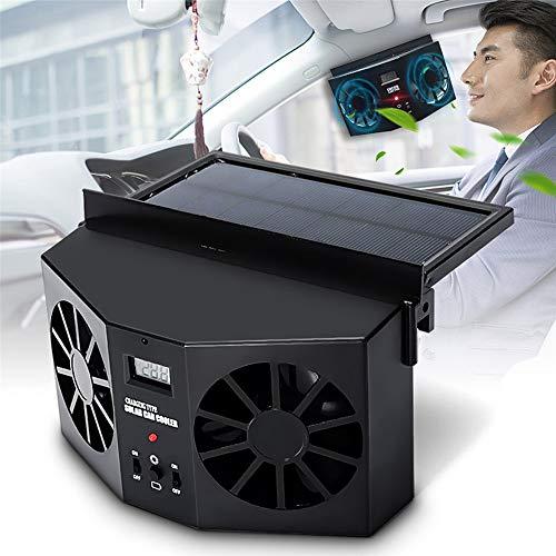 CXJC Auto Kfz Lüfter Solarbetriebene Auto-Kiemen Kühler Auto-Lüfter Dual-Mode-Netzteil High-Power -