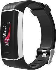 Fitness-Tracker Athletic - Sport-Uhr mit integriertem GPS, 24h-Herzfrequenz-Messung, Multi-Sport, Armband mit Uhren-Verschluss, Wasserdicht IP67 (schwarz)