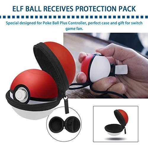 Maletín de Transporte para el Caso Leoboone Portable Travel Pokeball Ball Push Plus regulador para Pokemon Hard Protective Bag para Nitendo Switch