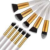 Makeup Brushes, USpicy 10-Piece Professional Cosmetics Make up Brush Set with Gift Box Kits (White)