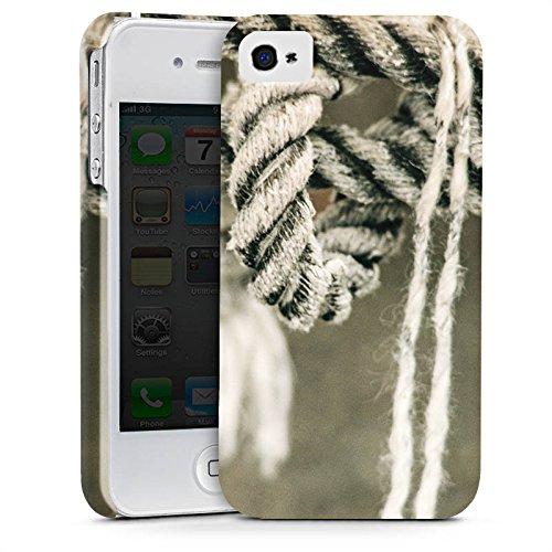 Apple iPhone X Silikon Hülle Case Schutzhülle Seil Seefahrt Knoten Premium Case glänzend