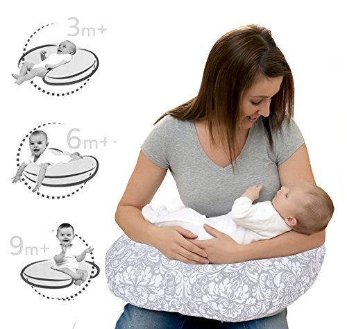 Lula Mom Comfortable Nursing Pillow For Mom And Baby Portable, Soft And Light, Allergen Protected; Especially For Breastfeeding Blue